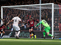 Bournemouth's David Brooks (centre) clears the ball off the goal line<br /> <br /> Photographer David Horton/CameraSport<br /> <br /> The Premier League - Bournemouth v Manchester United - Saturday 3rd November 2018 - Vitality Stadium - Bournemouth<br /> <br /> World Copyright &copy; 2018 CameraSport. All rights reserved. 43 Linden Ave. Countesthorpe. Leicester. England. LE8 5PG - Tel: +44 (0) 116 277 4147 - admin@camerasport.com - www.camerasport.com