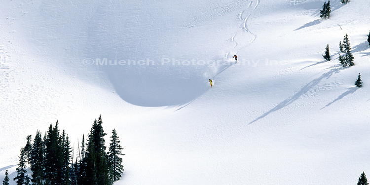 """Taco Ski Run, Copper Bowl, Copper Mountain Ski Area   COLORADO"""