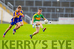 Brian Sugrue South Kerry in Action against Adrian Spillane Kenmare in the County Senior Football Semi Final at Fitzgerald Stadium Killarney on Sunday.