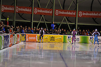 SCHAATSEN: ENSCHEDE: 30-10-2015, IJsbaan Twente, KNSB Cup Enschede, ©foto Martin de Jong