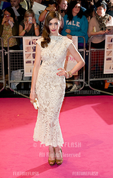 Anne Hathaway arriving for the UK premiere of One Day at the Vue Cinema in, Westfield, London. 23/08/2011  Picture by: Simon Burchell / Featureflash