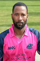 Corey Collymore in the Middlesex Friends Life Twenty 20 Kit - Middlesex County Cricket Club Press Day at Lords Cricket Ground, London - 08/04/13 - MANDATORY CREDIT: Rob Newell/TGSPHOTO - Self billing applies where appropriate - 0845 094 6026 - contact@tgsphoto.co.uk - NO UNPAID USE.