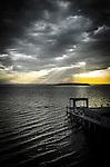 Rays of light on Lake Trasimeno, Umbria, Italy
