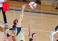Florida International University women's volleyball player Andrea Lakovic (1) plays against the University of South Alabama.  FIU won the match 3-0 on October 30, 2011 at Miami, Florida. .