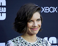 """LOS ANGELES - OCT 22:  Lauren Cohan at the """"The Walking Dead"""" 100th Episode Celebration at the Greek Theater on October 22, 2017 in Los Angeles, CA"""