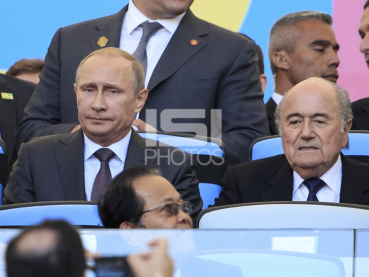 Vladimir Putin the President of Russia with FIFA President Sepp Blatter