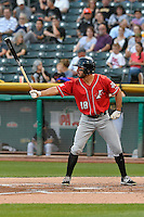 Mike Tauchman (18) of the Albuquerque Isotopes at bat against the Salt Lake Bees in Pacific Coast League action at Smith's Ballpark on August 30, 2016 in Salt Lake City, Utah. The Bees defeated the Isotopes 3-2. (Stephen Smith/Four Seam Images)