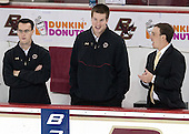 Tom Maguire (BC - Senior Manager), Kevin Pratt (BC - Manager) - The Boston College Eagles defeated the visiting University of Massachusetts Lowell River Hawks 6-3 on Sunday, October 28, 2012, at Kelley Rink in Conte Forum in Chestnut Hill, Massachusetts.