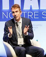 Christian Greco, Direttore Museo Egizio di Torino interviene durante il XXIX convegno di Capri per Napoli   dei  Giovani Industriali a Citta della Scienza , 25 Ottobre 2014