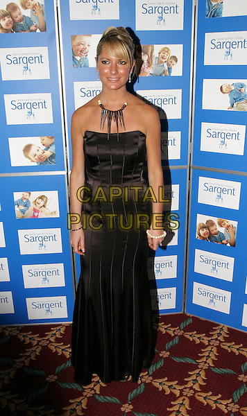 ALEX BEST.The Chocolate Ball in aid of Sargent Cancer Care for Children at the Cafe Royal, Piccadilly.11 March 2004.full length, full-length, long brown strapless dress.www.capitalpictures.com.sales@capitalpictures.com.© Capital Pictures.