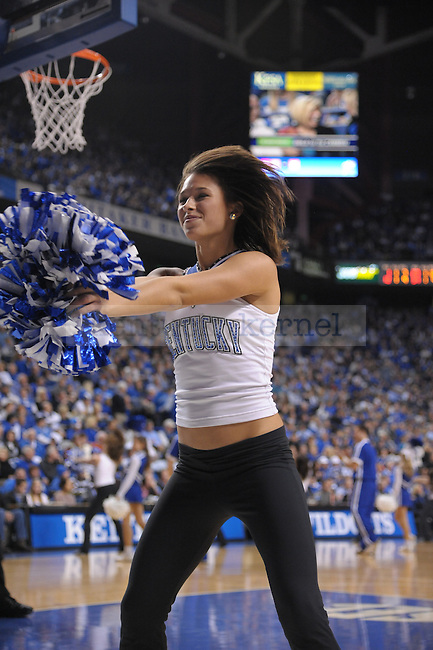 UK Dance Team member during the second half of the University of Kentucky Men's basketball game against Mississippi Valley State at Rupp Arena in Lexington, Ky., on 12/18/10. Uk won the game 85-60. Photo by Mike Weaver | Staff