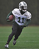 Jeremy Kerley #11 New York Jets wide receiver works on punt returns during practice at the Atlantic Health Jets Training Jets Training Center in Florham Park, NJ on Wednesday, Dec. 30, 2015.