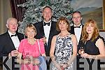 Patrick, Kay MacHugh, Simon, Jean Byrne, Declan and Anthea MacHugh having fun at the New Years Eve ball in the Malton Hotel Killarney on Friday night