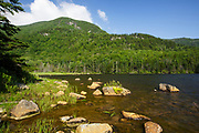 Kinsman Notch - Mount Blue from Beaver Pond in the White Mountains, New Hampshire USA during the spring months. This area was part of the Gordon Pond Railroad, which was a logging railroad in operation from 1907 - 1916 (+/-).