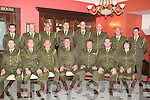 RETIRMENT: Comdt Michael O'Connor of who retired on Friday evening from the 32nd RDF to mark Michaels retirement collegues of Michael held a dinner in his honour in the Imperial Hotel, Tralee: Front l-r: Lt Mike Begley, Capt Sean Murphy (Bde Hq), Comdt TJ MCCarron (31LSB),Comdt Michael O'Connor (rtd), Comdt William O'Connor(O/C 32nd Bn RDF)).Capt Brian Rusk(Bde Hq) and Capt Marie O'Morgan. Back l-r:Lt Colm Kingston, Lt John Leahy,BQMS Tom Walsh,2/Lt Aidan Leahy,Capt John Heir,Capt John Mannix,Capt Eddid Harrold and 2/Lt Sean Coffey..