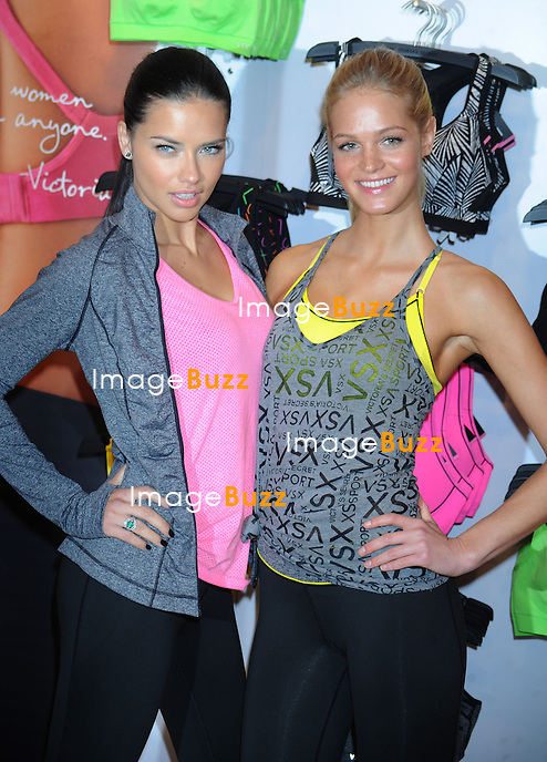 "Adriana Lima and Erin Heatherton at the Victoria's Secret ""VSX"" Launch in New York City. January 15, 2013......"