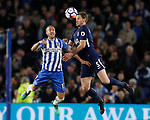 Glenn Murray of Brighton and Jan Vertonghen of Tottenham during the premier league match at the Amex Stadium, London. Picture date 17th April 2018. Picture credit should read: David Klein/Sportimage