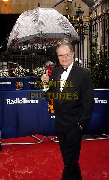 JIM BROADBENT.The British Academy Televison Awards at the Grosvenor House Hotel, Park Lane, London.full length, full-length, baftas, umbrella, tuxedo.www.capitalpictures.com.sales@capitalpictures.com.©Capital Pictures