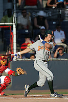 July 11 2009: Logan Watkins of the Boise Hawks during game against the Vancouver Canadians at Nat Bailey Stadium in Vancouver,BC..Photo by Larry Goren/Four Seam Images