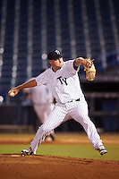 Tampa Yankees relief pitcher Jordan Foley (31) during a game against the Daytona Tortugas on August 5, 2016 at George M. Steinbrenner Field in Tampa, Florida.  Tampa defeated Daytona 7-1.  (Mike Janes/Four Seam Images)