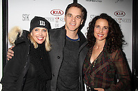 Stacia Robitaille, Luc Robitaille, Andie MacDowell<br /> KIA SUPPER SUITE BY STK hosts gala dinner for Luc Robitaille's ECHOES OF HOPE charity, Handle Restaurant and Bar, Park City, UT 01-23-15<br /> David Edwards/DailyCeleb.com 818-915-4440