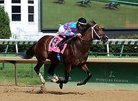 LOUISVILLE, KY - JUNE 24: Finley'sluckycharm (#8, jockey Brian J. Hernandez Jr.) wins the G3 Chicago Handicap at Churchill Downs, Louisville, Kentucky. Owner Carl R. Moore Management LLC (Carl R. Moore), trainer W. B. Calhoun. By Twirling Candy x Day of Victory (Victory Gallop)(Photo by Mary M. Meek/Eclipse Sportswire/Getty Images)