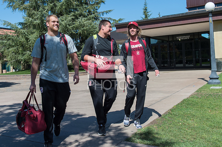 Stanford, Ca - September 29, 2016: Travel day with the Stanford Football Team to Seattle WA.