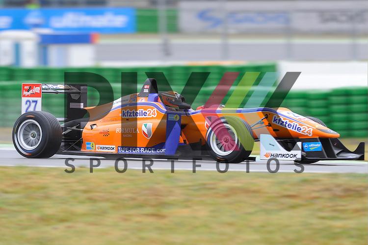 # 27 Mikkel Jensen / DEN vom kfzteile24 Muecke Motorsport  bei der FIA Formula F 3 auf dem Hockenheimring.<br /> <br /> Foto &copy; P-I-X.org *** Foto ist honorarpflichtig! *** Auf Anfrage in hoeherer Qualitaet/Aufloesung. Belegexemplar erbeten. Veroeffentlichung ausschliesslich fuer journalistisch-publizistische Zwecke. For editorial use only.