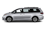 Car driver side profile view of a 2018 Toyota Sienna Limited FWD 5 Door Mini Van
