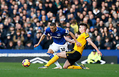 2nd February 2019, Goodison Park, Liverpool, England; EPL Premier League Football, Everton versus Wolverhampton Wanderers; Matt Doherty of Wolverhampton Wanderers brings down Richarlison of Everton