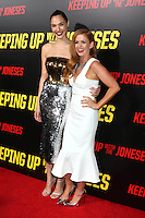 """LOS ANGELES, CA - OCTOBER 8: Gal Gadot, Isla Fisher at the """"Keeping Up with the Joneses"""" Red Carpet Event at Twentieth Century Fox Studios in Los Angeles, California on October 8, 2016. Credit: David Edwards/MediaPunch"""