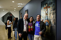 "Stamford, CT. 11 October 2014. HighLights of the the Opening of solo Exhibit ""Transfigurations"" by the Colombian Artist Evelin Velasquez at the Fernando Luis Alvarez Gallery in Stamford . Photo by Eduardo Munoz/VIEWpress"