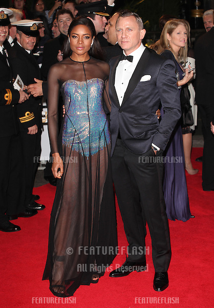 Naomie Harris and Daniel Craig arriving for the Royal World Premiere of 'Skyfall' at Royal Albert Hall, London. 23/10/2012 Picture by: Alexandra Glen / Featureflash