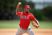 Philadelphia Phillies pitcher Carlos Betancourt (56) during an Instructional League game against the Detroit Tigers on September 19, 2019 at Tigertown in Lakeland, Florida.  (Mike Janes/Four Seam Images)
