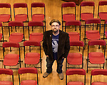 "July 26, 2017. Raleigh, North Carolina.<br /> <br /> Alan Gratz stands for a portrait. <br /> <br /> Author Alan Gratz spoke about and signed his new book ""Refugee"" at Quail Ridge Books. The young adult fiction novel contrasts the stories of three refugees from different time periods, a Jewish boy in 1930's Germany , a Cuban girl in 1994 and a Syrian boy in 2015."