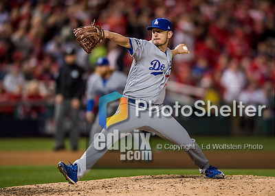 13 October 2016: Los Angeles Dodgers pitcher Grant Dayton on the mound during the NLDS Game 5 against the Washington Nationals at Nationals Park in Washington, DC. The Dodgers edged out the Nationals 4-3, to take Game 5, and the Series, 3 games to 2, moving on to the National League Championship against the Chicago Cubs. Mandatory Credit: Ed Wolfstein Photo *** RAW (NEF) Image File Available ***