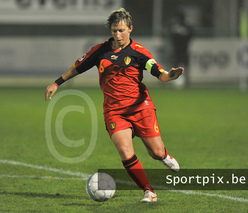 Qualification Women's Euro 2013 - Belgium - Iceland ; Belgie - Ijsland ; Armand Melis Stadion Dessel :.Niki De Cock.foto DAVID CATRY / Vrouwenteam.be
