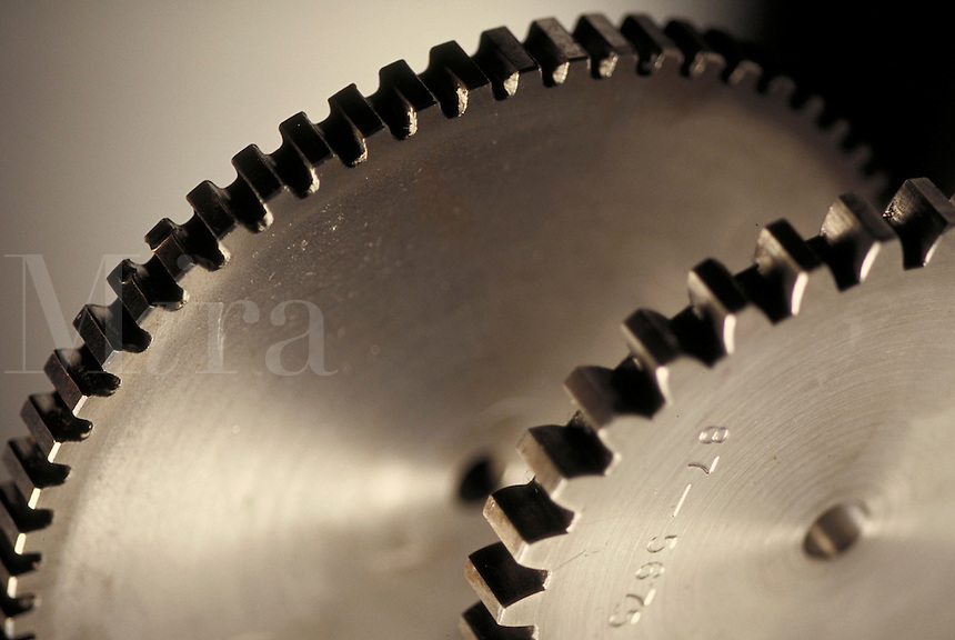 Monochromatic abstract photo of gears. Houston Texas USA.