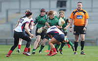 Saturday 20th April 2019 | 2019 Ulster Women's Junior Cup Final<br /> <br /> Donna Redmond is tackled by Peita McAlister during the Ulster Women's Junior Cup final between Malone and City Of Derry at Kingspan Stadium, Ravenhill Park, Belfast. Northern Ireland. Photo John Dickson/Dicksondigital