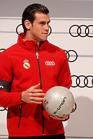 Garet Bale participates and receives new Audi during the presentation of Real Madrid's new cars made by Audi in Madrid. December 01, 2014. (ALTERPHOTOS/Caro Marin) /Nortephoto