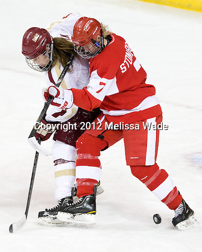 Taylor Wasylk (BC - 9), Shannon Stoneburgh (BU - 7) - The Boston College Eagles tied the visiting Boston University Terriers 5-5 on Saturday, November 3, 2012, at Kelley Rink in Conte Forum in Chestnut Hill, Massachusetts.