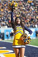 Morgantown, WV - November 10, 2018: West Virginia Mountaineers cheerleader during the game between TCU and WVU at  Mountaineer Field at Milan Puskar Stadium in Morgantown, WV.  (Photo by Elliott Brown/Media Images International)