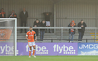 Blackpool fans watch their team in action <br /> <br /> Photographer Kevin Barnes/CameraSport<br /> <br /> Emirates FA Cup First Round - Exeter City v Blackpool - Saturday 10th November 2018 - St James Park - Exeter<br />  <br /> World Copyright © 2018 CameraSport. All rights reserved. 43 Linden Ave. Countesthorpe. Leicester. England. LE8 5PG - Tel: +44 (0) 116 277 4147 - admin@camerasport.com - www.camerasport.com