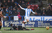 17th March 2018, The John Smiths Stadium, Huddersfield, England; EPL Premier League football, Huddersfield Town versus Crystal Palace; Chris Lowe of Huddersfield Town is fouled by Aaron Wan-Bissaka of Crystal Palace in the second half
