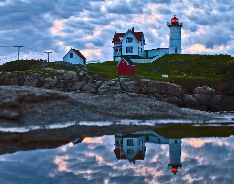 (York, ME, 08/07/14) Nubble Light is seen on Thursday, August 07, 2014. Staff photo by Christopher Evans