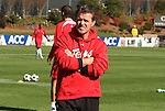16 November 2008: Maryland head coach Sasho Cirovski. The University of Maryland defeated the University of Virginia 1-0 at WakeMed Stadium at WakeMed Soccer Park in Cary, NC in the men's ACC tournament final.