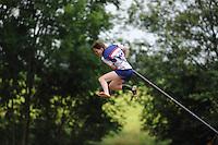 FIERJLEPPEN: JOURE: 18-06-2014, ROC Friese Poort Competitie, Dames Topklasse, AkkeNeel Talsma, ©foto Martin de Jong