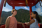 mother and daughter riding aerial tram, Estes Park, Colorado, released (MR#96)