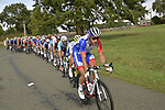 The peloton led by Groupama-FDJ during the 113th edition of Paris-Tours 2019, running 217km from Chartres to Tours, France. 13th October 2019.<br /> Picture: ASO/Bruno Bade | Cyclefile<br /> All photos usage must carry mandatory copyright credit (© Cyclefile | ASO/Bruno Bade)