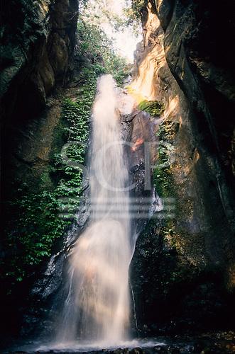 Gombe, Tanzania. Kakombe waterfall in the Gombe Stream National Park.